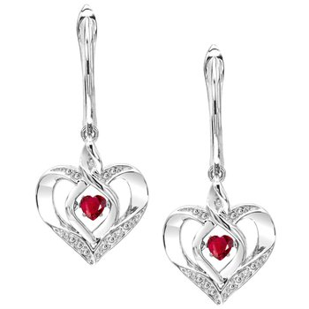 Rhythm of Love Ruby Earrings