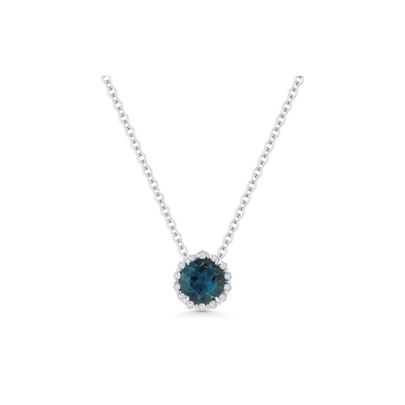 Kelley Collection  London Blue Topaz & Diamond Pendant