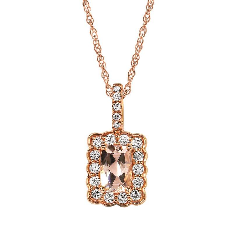 Kelley Collection  Morganite & Diamond Pendant