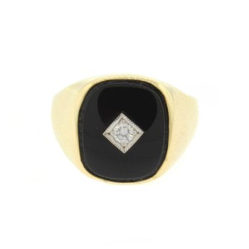 Diamond & Black Onyx Ring