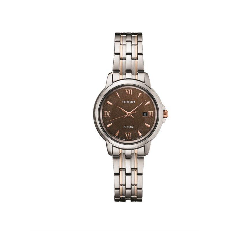 Seiko Ladies Solar Essentials Two-Tone Watch