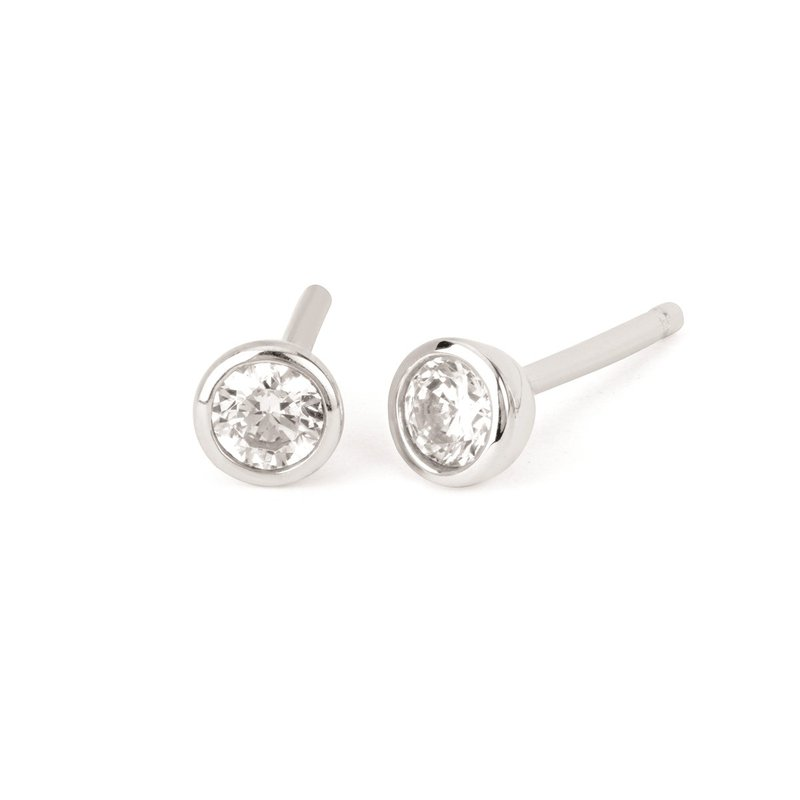 Kelley Collection  White Sapphire Studs