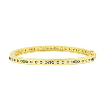 Signature Mini Stud Eternity Hinge Bangle