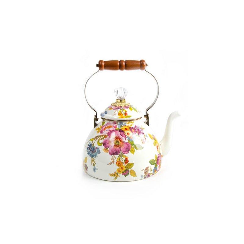 MacKenzie-Childs Flower Market 3 Quart Tea Kettle
