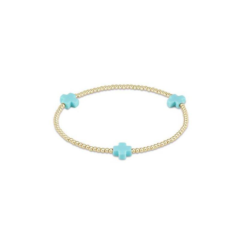 ENewton Design Signature Cross Pattern Bead Bracelet - Turquoise