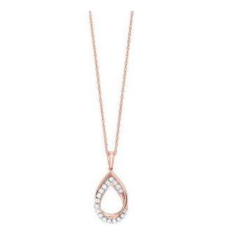 Intertwined Pear Diamond Pendant