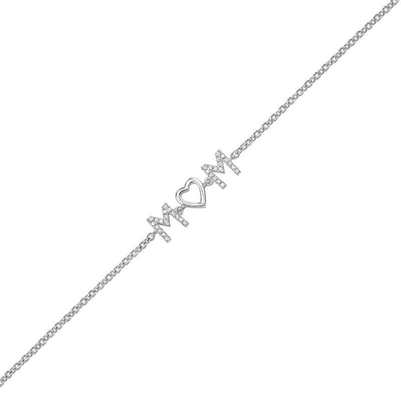 "Kelley Collection  Diamond ""MOM"" Bracelet"