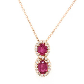 Passion Ruby™ & Vanilla Diamond® Pendant