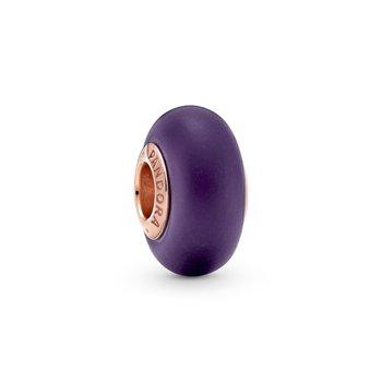 Matte Purple Murano Glass Charm