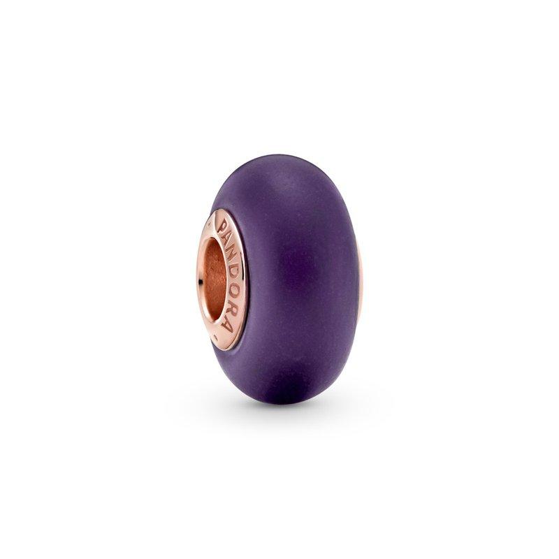 PANDORA Matte Purple Murano Glass Charm