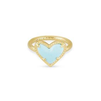 Ari Heart in Light Blue Magnesite