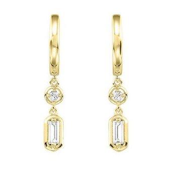 Diamond Baguette Dangle Earrings
