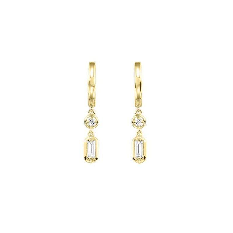 Kelley Collection  Diamond Baguette Dangle Earrings