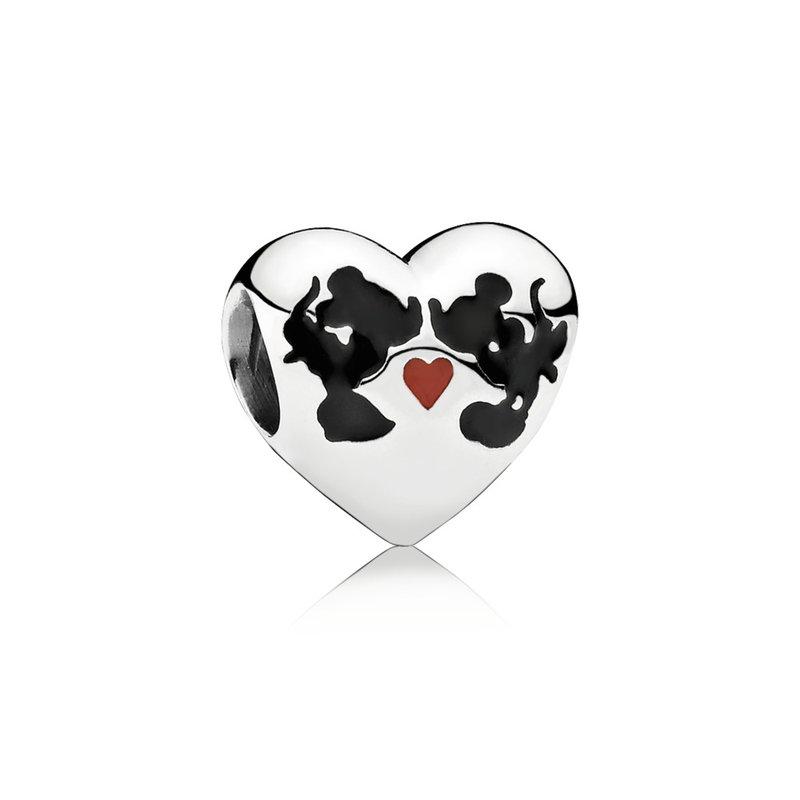 PANDORA Disney Minnie & Mickey Kiss Charm