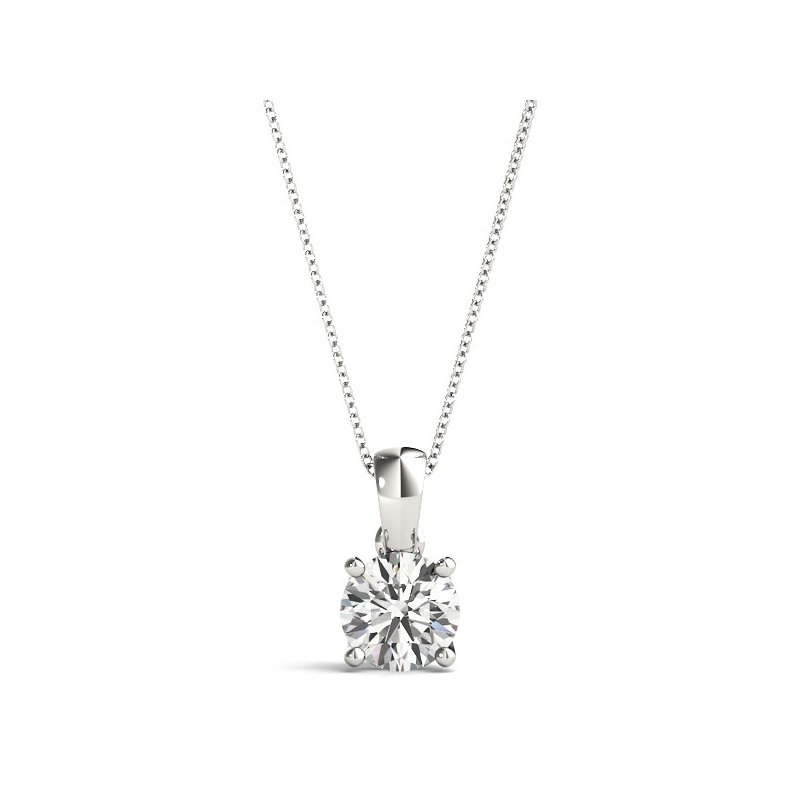 Kelley Collection  Diamond Solitaire Pendant
