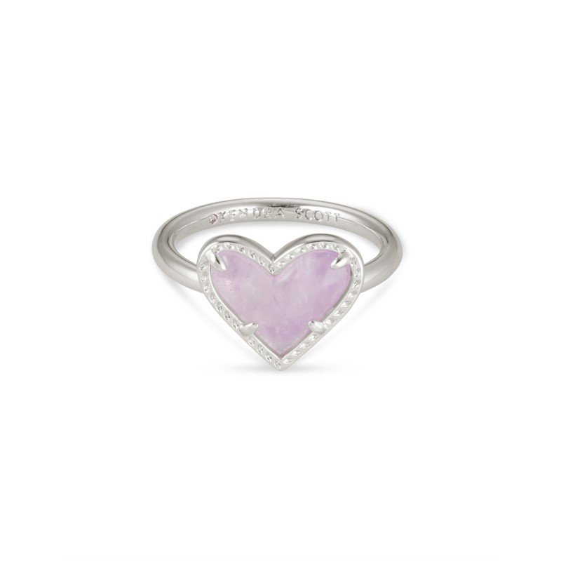 Kendra Scott Ari Heart in Amethyst