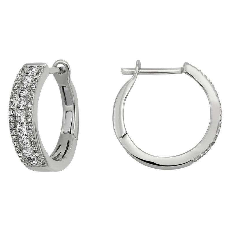 Kelley Collection  Diamond Hoop Earrings