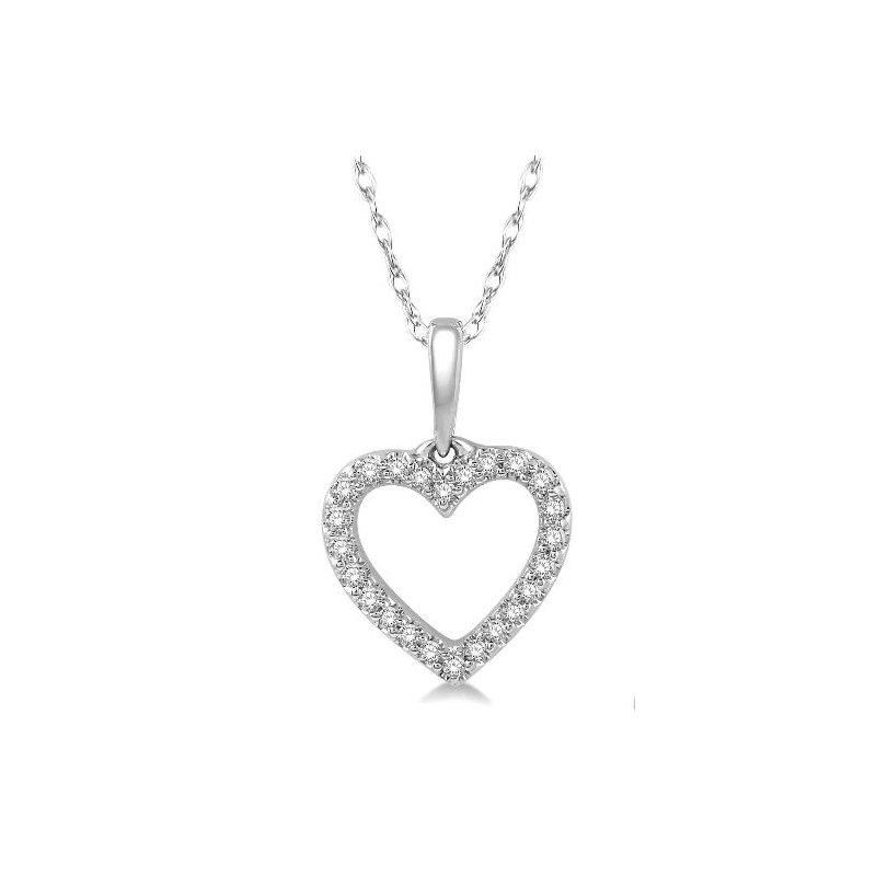 Kelley Collection  Diamond Open Heart Pendant
