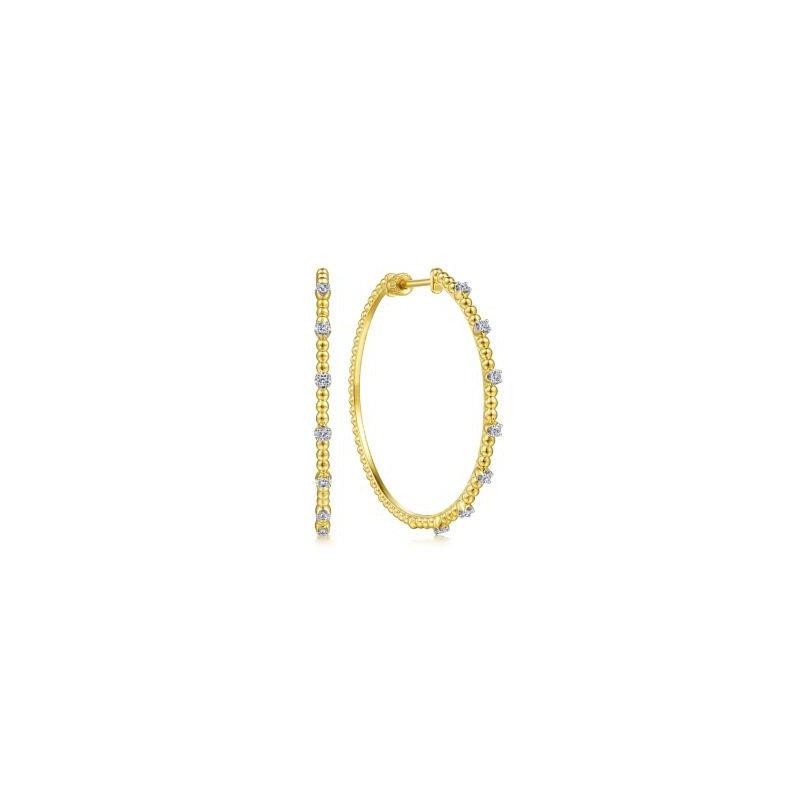 Gabriel NY Fine Jewelry Diamond Hoop Earrings