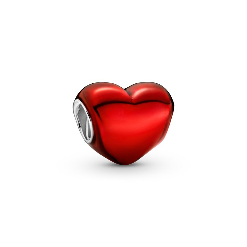 PANDORA Metallic Red Heart Charm