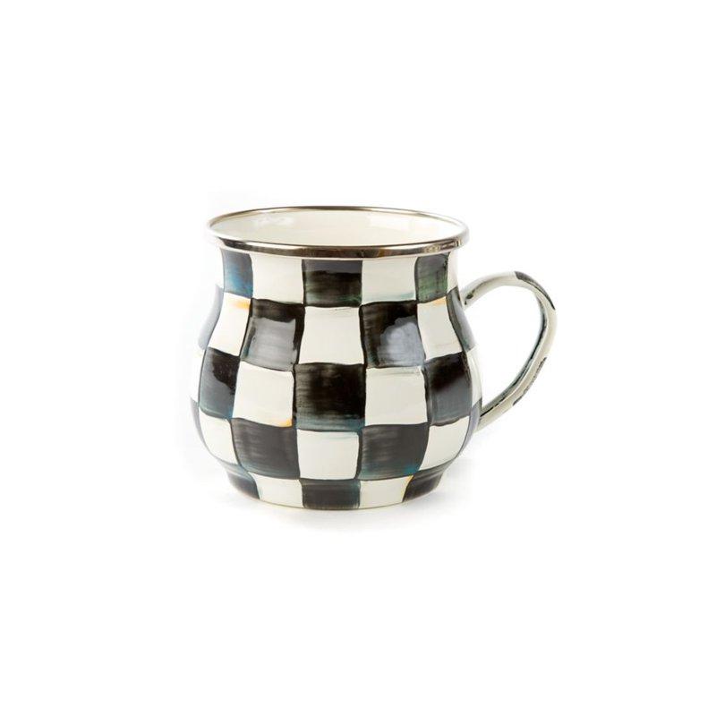 MacKenzie-Childs Courtly Check Enamel Mug