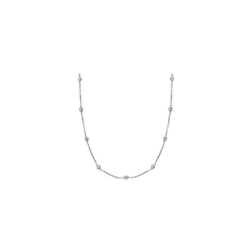 Kelley Collection  Diamond Bezel Necklace