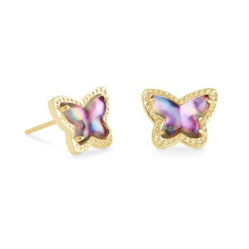 Lillia Butterfly Studs in Lilac Abalone