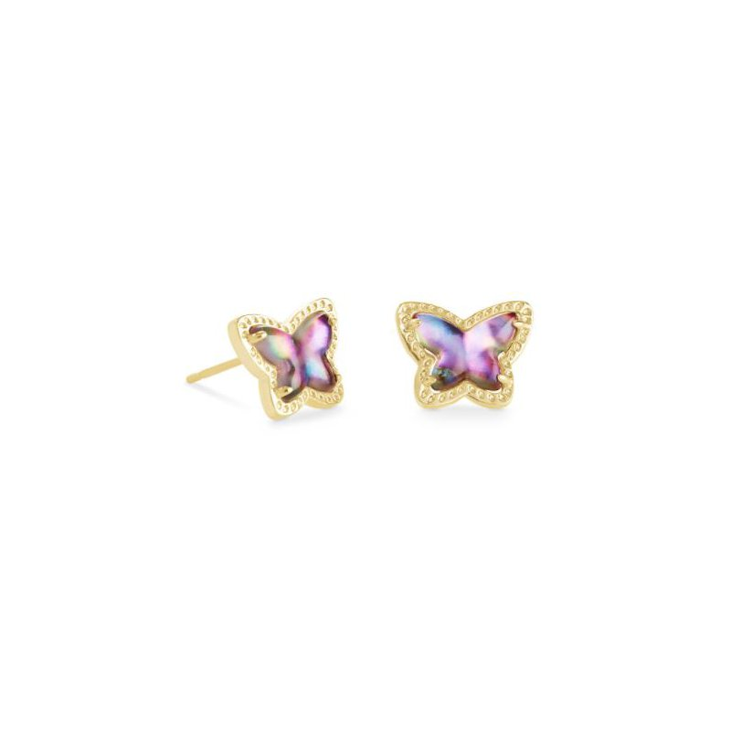 Kendra Scott Lillia Butterfly Studs in Lilac Abalone