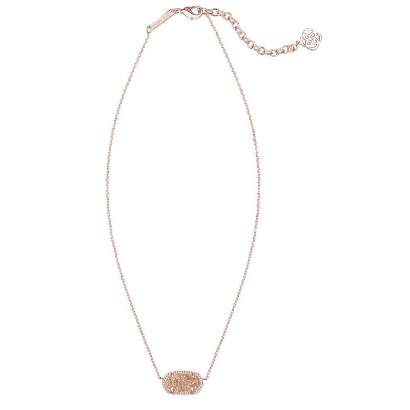 Kendra Scott Elisa in Rose Gold Drusy