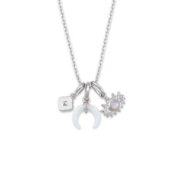 Gemma Charm Necklace in Neutral Mix