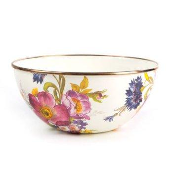 Flower Market Small Everyday Bowl - White