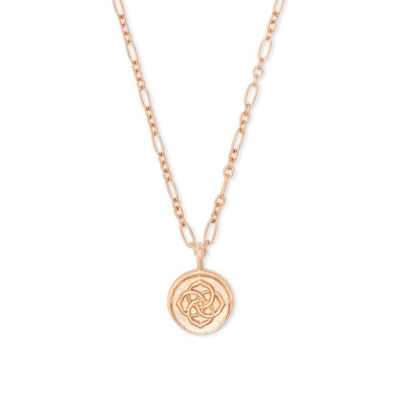Kendra Scott Dira Coin Pendant In Rose Gold
