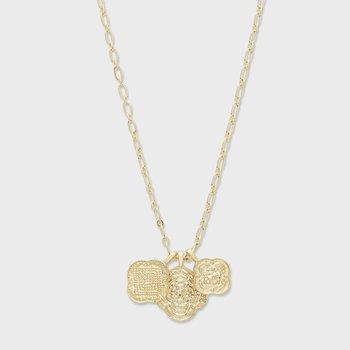 Maya Mixed Coin Necklace