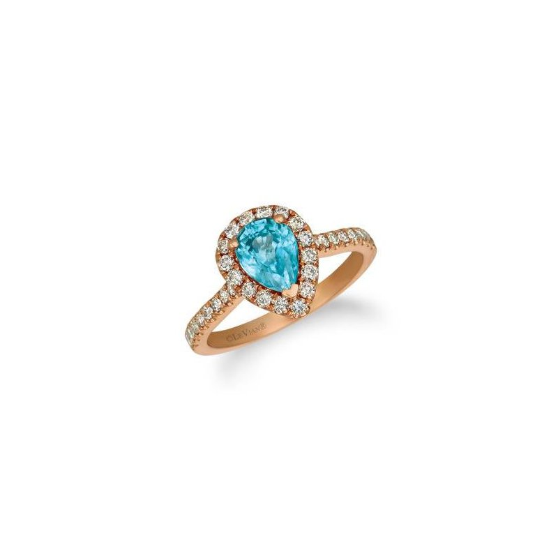 Le Vian 14K Strawberry Gold® Blueberry Zircon & Nude Diamond Ring