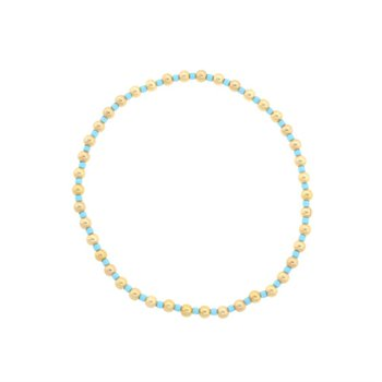 Hope Grateful Pattern Bracelet - Turquoise