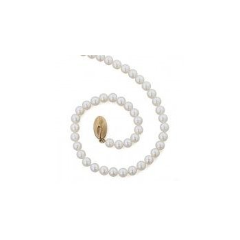 White Freshwater Cultured Pearl Strand (5mm)