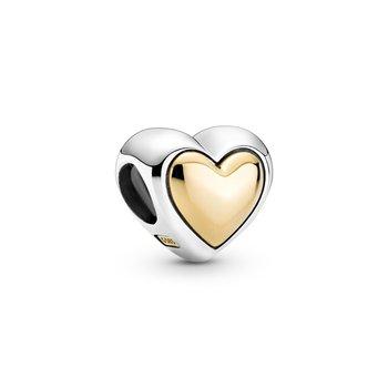 Domed Golden Heart Charm