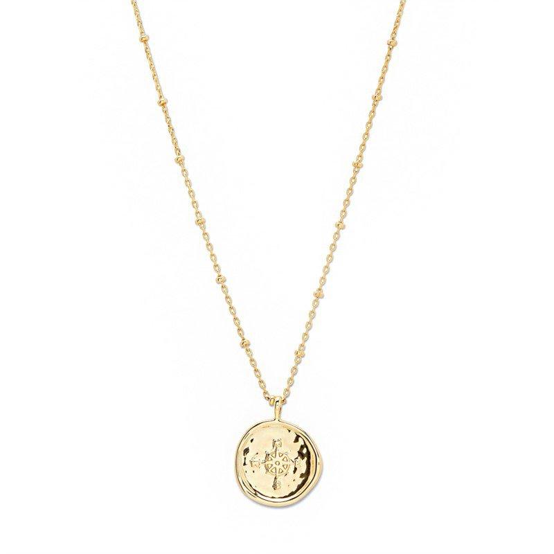 Gorjana Compass Coin Necklace