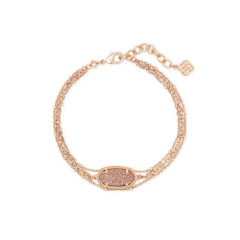 Elaina Multi Strand in Rose Gold Drusy