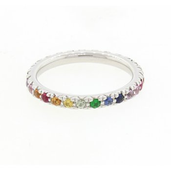 Multi-Stone Eternity Stackable Band