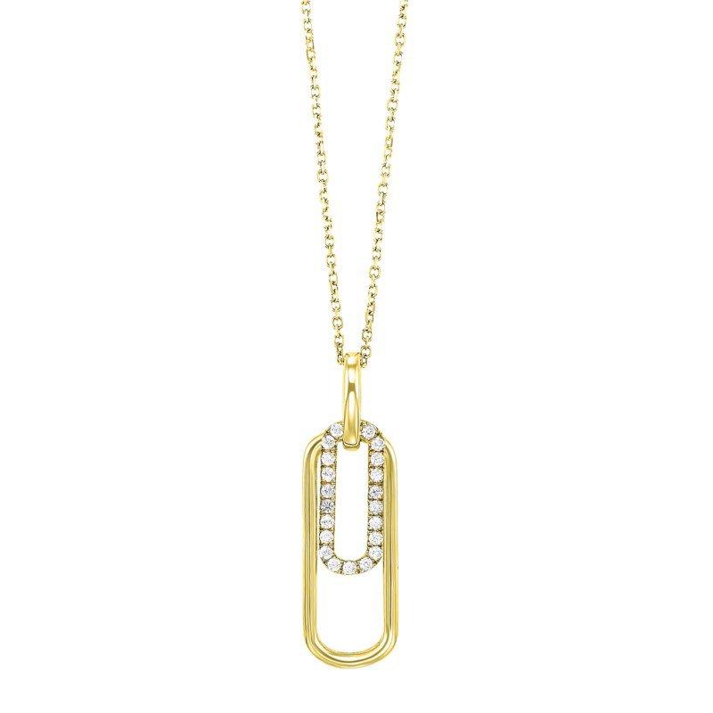 Kelley Collection  Diamond Paperclip Pendant