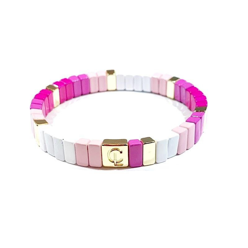 Caryn Lawn Tile Bracelet - Mini Pink Ombre