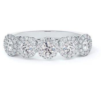 Center Of My Universe® 5-Stone Diamond Halo Ring
