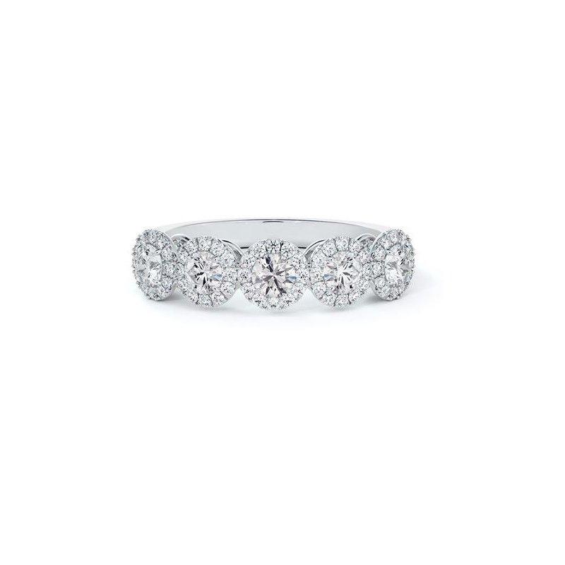 Natalie K (M.K. Diamonds & Jewelry) Center Of My Universe® 5-Stone Diamond Halo Ring