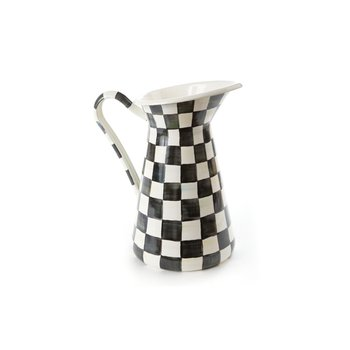 Courtly Check Enamel Practical Pitcher - Large