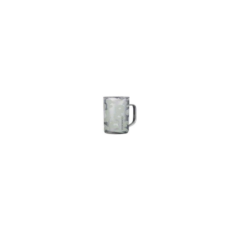 Corkcicle 16oz Snow Leopard Coffee Mug