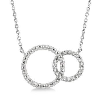 Interlocking Diamond Circle Necklace