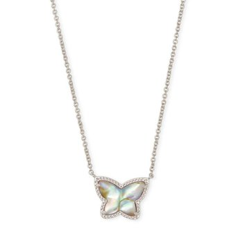 Lillia Butterfly Pendant in Iridescent Abaalone