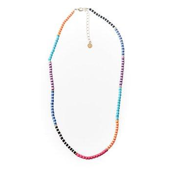 Seaside Skinny Necklace - Colorblock