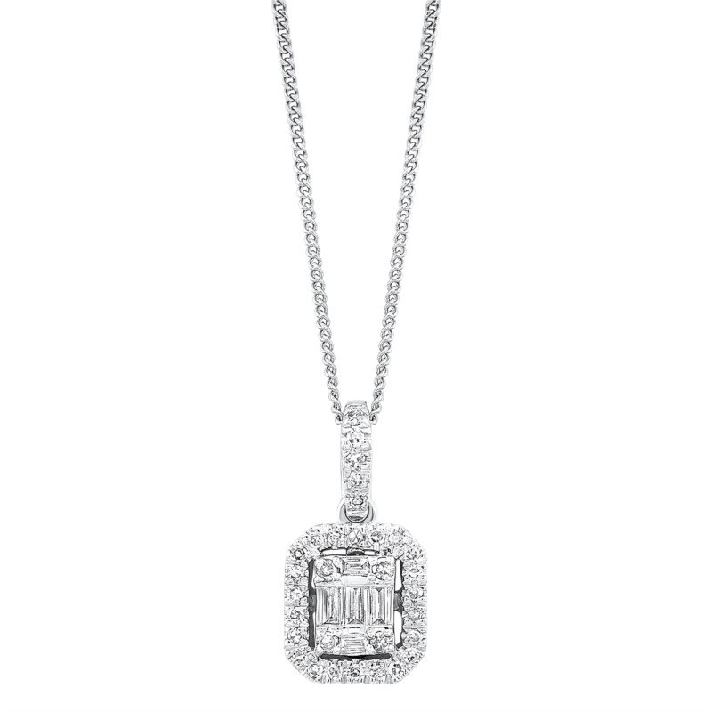 Kelley Collection  Time Square Diamond Pendant